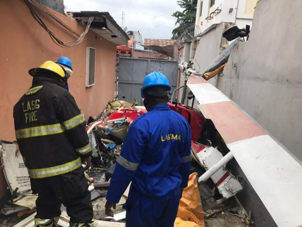 Two die in Lagos helicopter crash