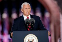 Vice President Mike Pence noted the Kenosha unrest, but not what led to it