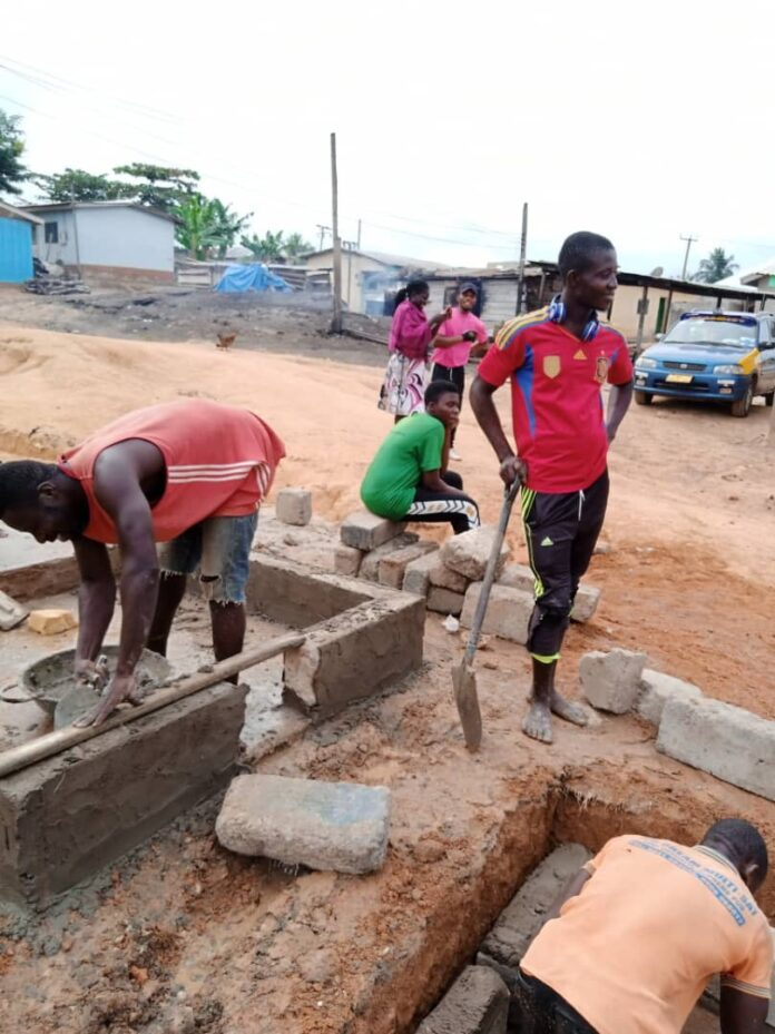 Abandoned borehole completed by Bibiani-Kwame Krom youth